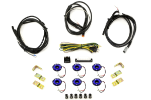 KC Hilites Rock Light Kit, 6 Lights, Blue (Part Number: 91028)