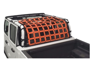Dirty Dog 4x4 Rear Seat Netting, Orange - JT