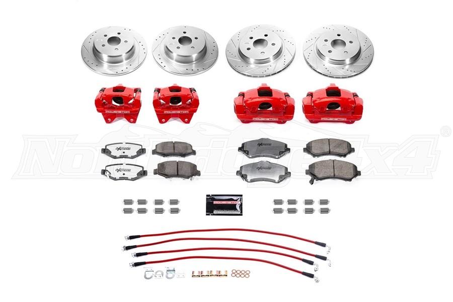 Power Stop Big Brake Conversion Kit w/ Brake Hose Kit - JK