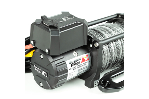 Rugged Ridge Winch, 9500 LBS, Synthetic Rope, Waterproof (Part Number: )