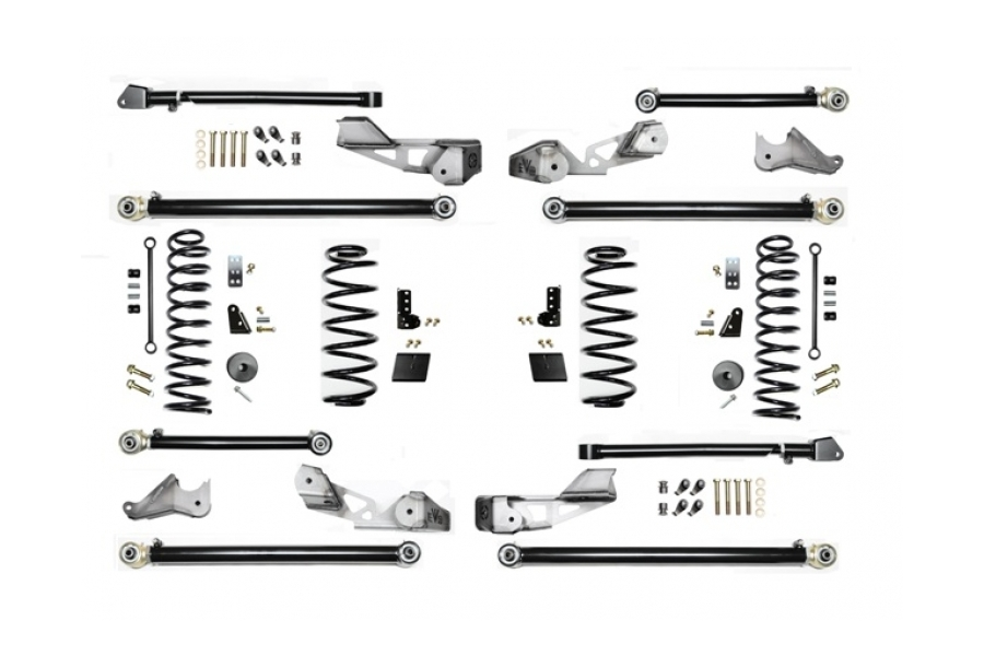 EVO Manufacturing 2.5in High Clearance Long Arm Lift Kit w/Shock Extensions - JL 4dr