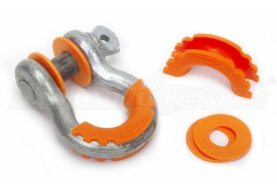 Daystar D-Ring Isolators w/Washers, Fluorescent Orange