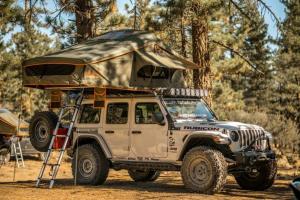 Roam Vagabond XL Rooftop Tent - No Annex - Forest Green/Hyper Orange