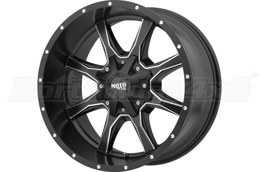 Moto Metal Wheels MO970 Series Wheel, Satin Black 20x10 5x5/5x5.5 - JT/JL/JK