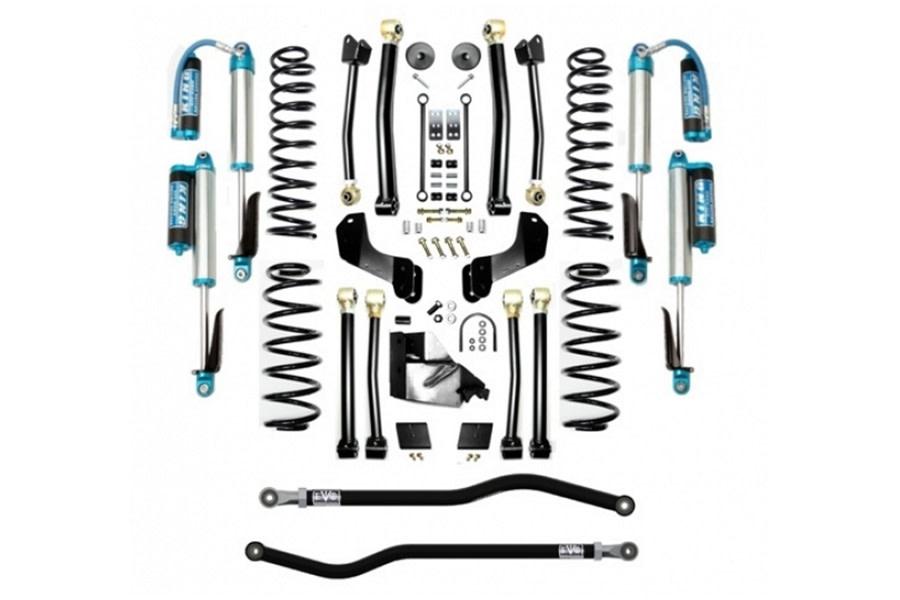 Evo Manufacturing 4.5in Enforcer Overland PLUS Stage 4 Lift Kit w/ Comp Adjuster Shocks - JL 4Dr