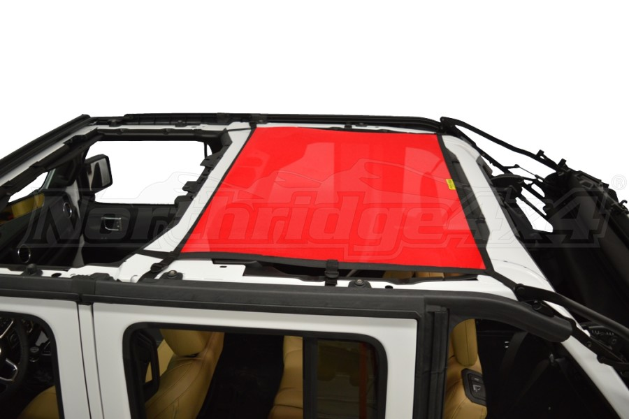 Dirty Dog 4x4 Sun Screen Rear - Red (Part Number:JL4S18R1RD)