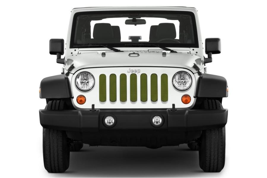 Under The Sun Inserts Jeep Green Metallic Grill Insert (Part Number:INSRT-SLDJPGRN-JK)