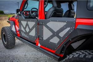 DV8 Offroad Front Aluminum Half Doors w/ Mesh Screens  - JT/JL