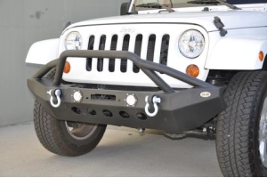 DV8 Offroad FS-8 Front Mid Width Winch Bumper w/LED Lights (Part Number: )