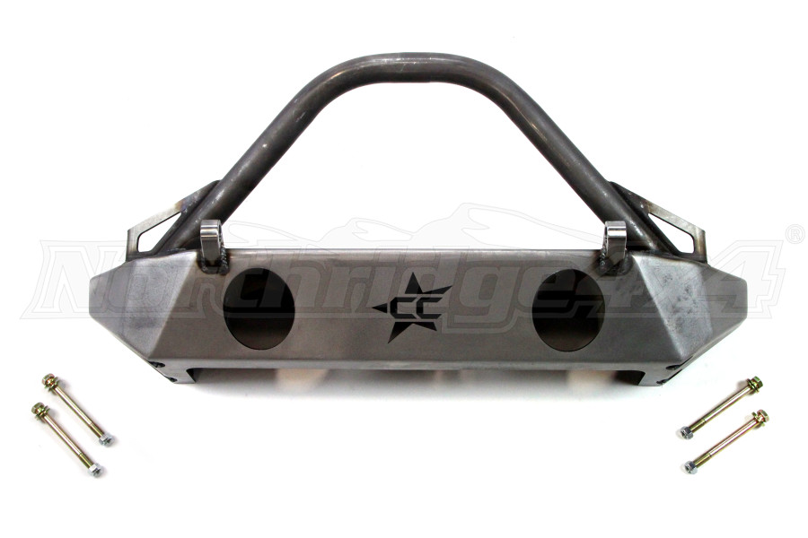 Crawler Conceptz Skinny Front Bumper w/ Fogs, Bar, And Tabs Bare (Part Number:SB-FOG-001)