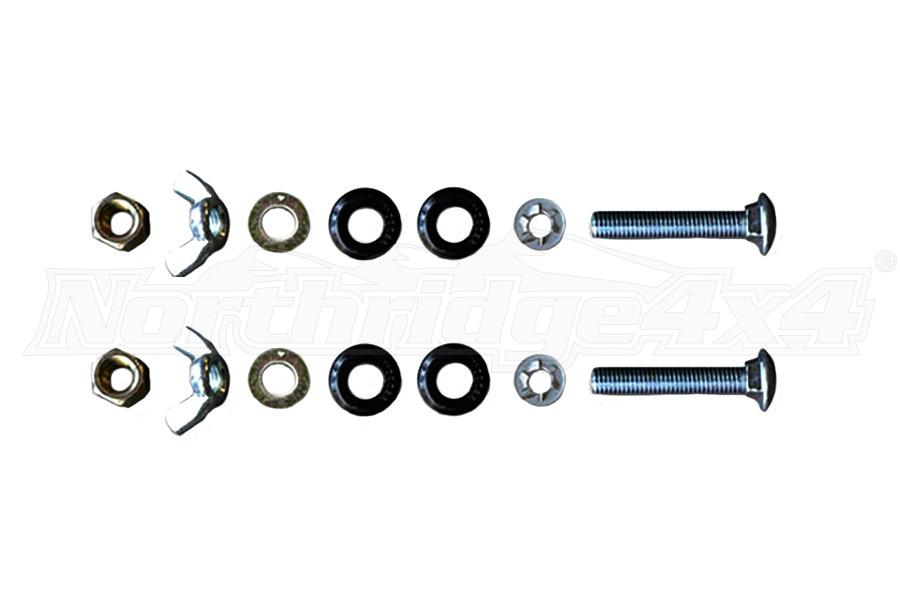 Poison Spyder Hi-Lift Jack Mount Hardware Kit (Part Number:45-61-010-HW)