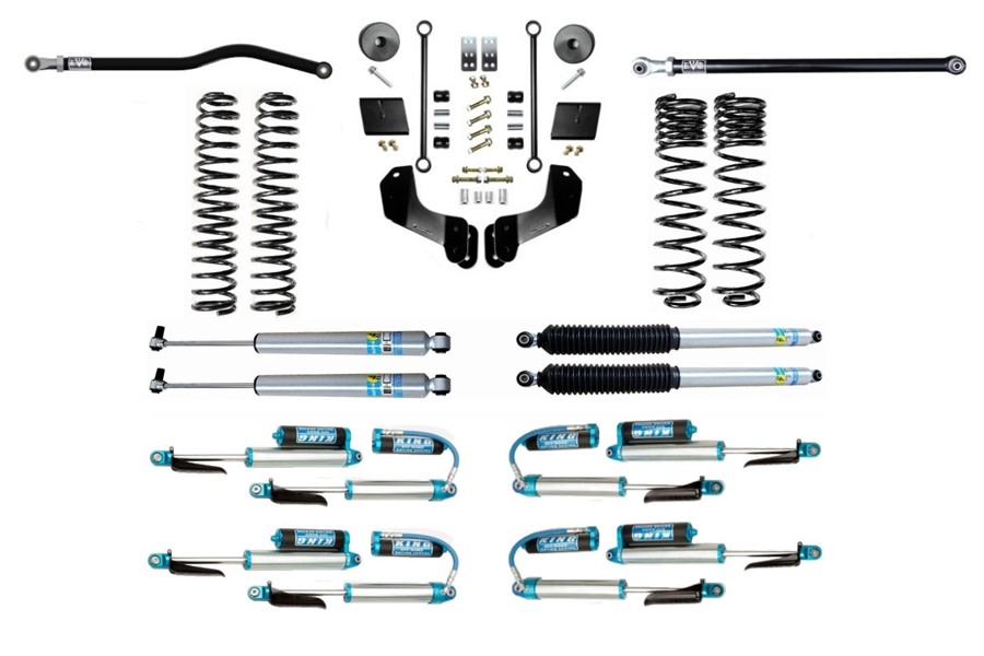 Evo Manufacturing HD 2.5in Enforcer Overland Stage 1 PLUS Lift Kit w/ Shock Options - JT