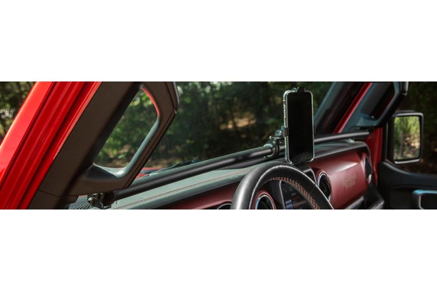 Rugged Ridge Gear-Vise Dash Bar - Black - JT/JL