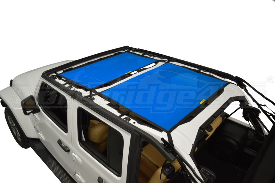 Dirty Dog 4x4 Sun Screen Front and Rear- Blue (Part Number:JL4S18F2BL)