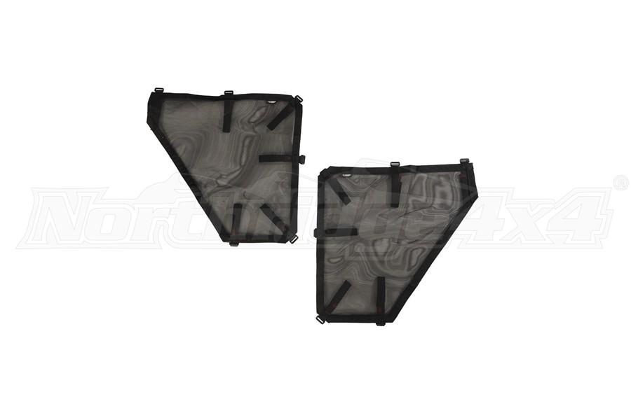 Rugged Ridge Fortis Rear Tube Door Covers, Pair - Black  - JT/JL 4Dr