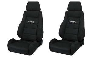 Corbeau GTS II Black Microsuede Seat Pair (Part Number: )