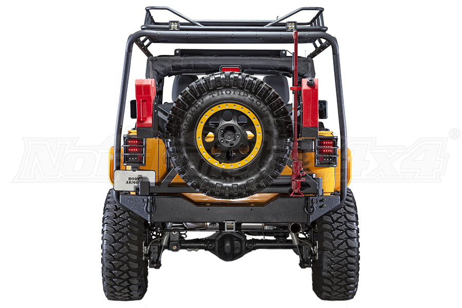 Body Armor Rear bumper W/adjustable pin, Tire Carrier Sold Seperate (Part Number:JK-2395)