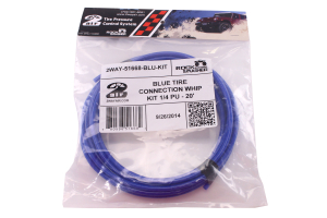 Wild Boar Tire Connection Whip Kit 1/4in X 20ft Blue (Part Number: )