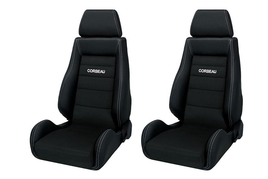 Corbeau GTS II Black Leather/Microsuede Seat Pair