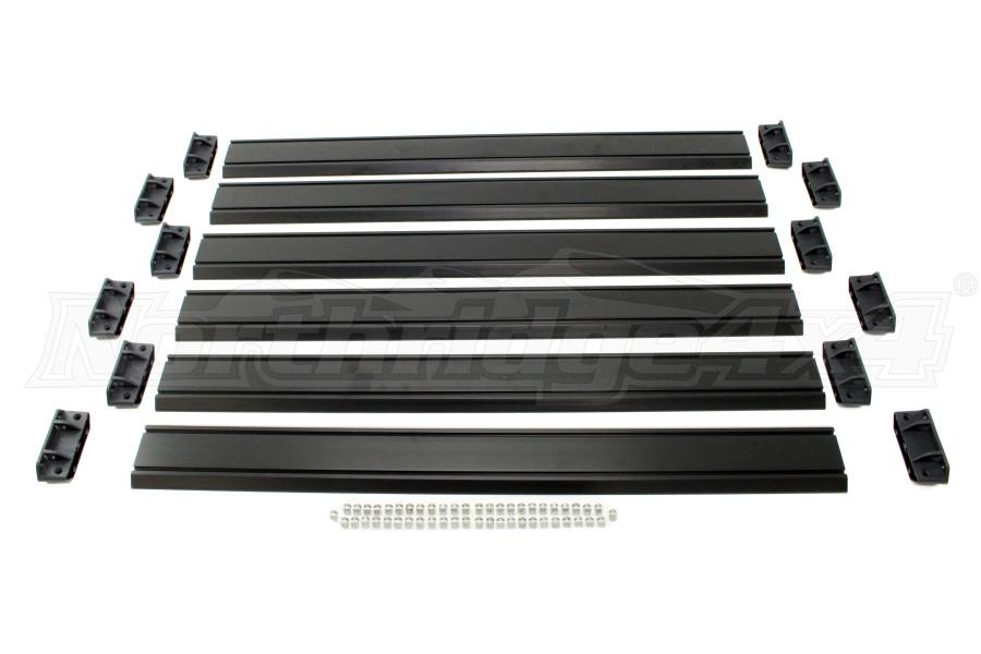 Teraflex Nebo Roof Rack Cargo Slat Kit - Black (Part Number:4722060)
