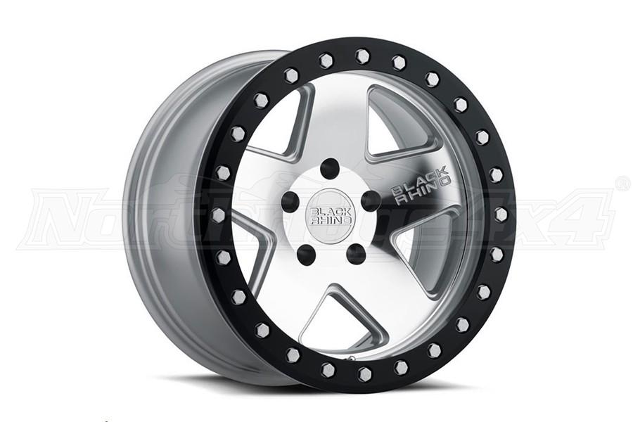 Black Rhino Crawler Beadlock Wheel 17x8.5 5x5 Silver w/Black Lip (Part Number:1785CRL-25127S71)
