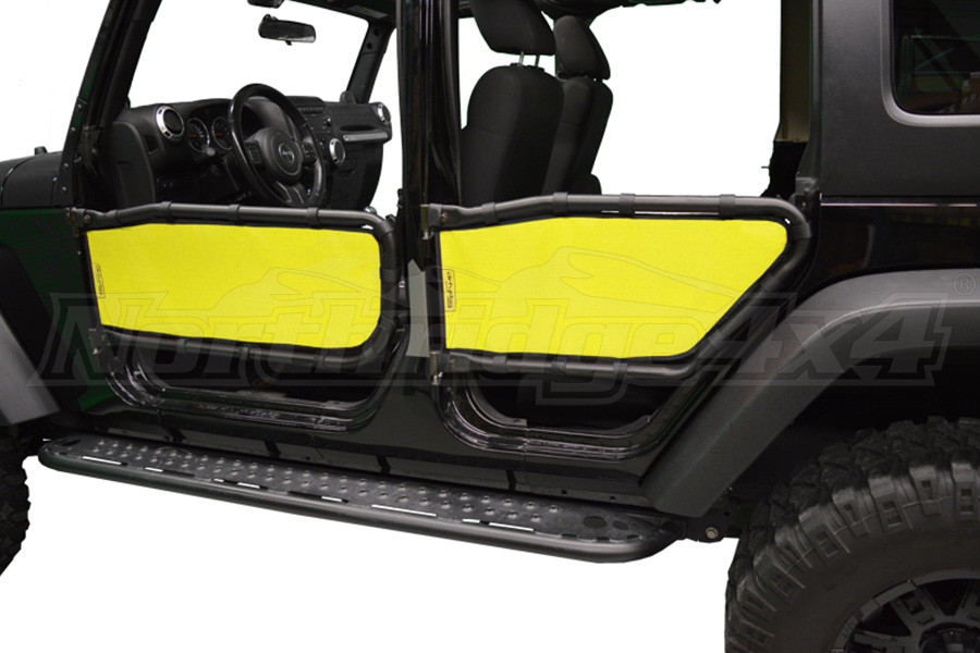 Dirty Dog 4x4 Olympic Tube Door Screen Front & Rear, Yellow (Part Number:J4TS07OYYL)