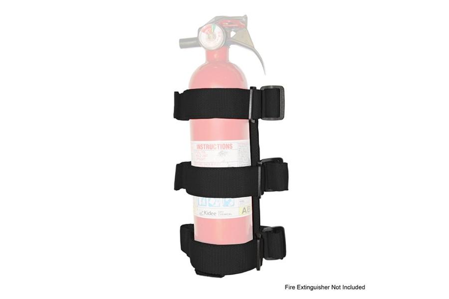 Rugged Ridge Sport Bar Fire Extinguisher Holder Black