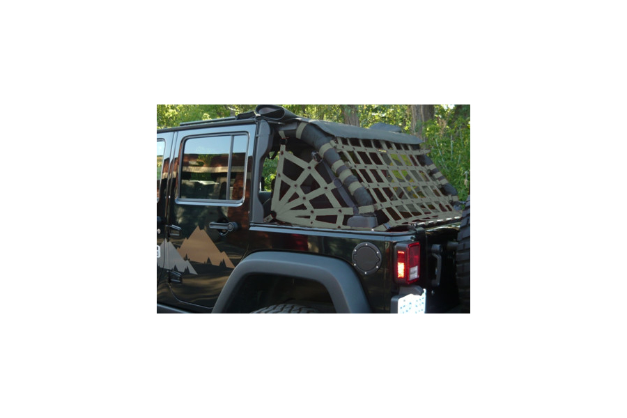Dirty Dog 4x4 Rear Netting Olive (Part Number:J4NN07RCOD)