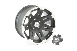 Rugged Ridge XHD Wheel, Black w/ Machined Lip 17X9 5x5 (Part Number: )