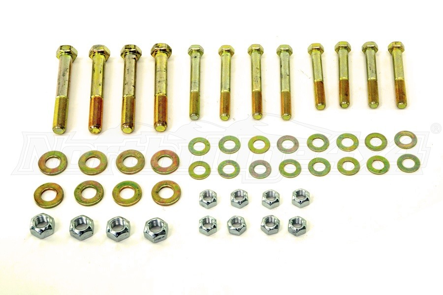 Northridge 4x4 Front/Rear Upper Control Arm and Lower Shock Mount Bolt Kit (Part Number:JLGR8-2)