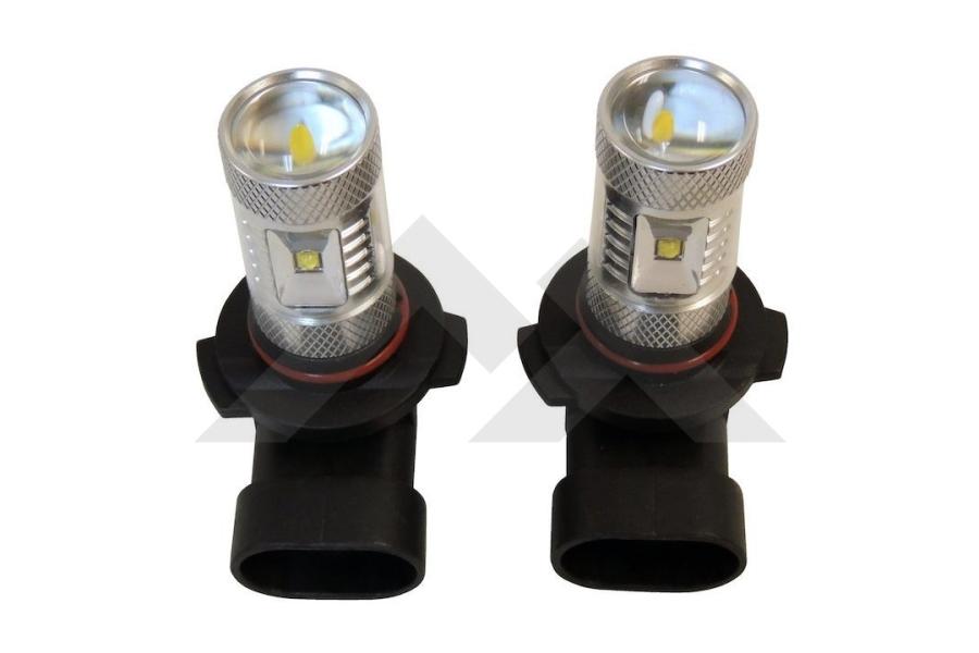 Crown Automotive LED Fog Lamp Bulb Kit w/OEM Plastic Bumper (Part Number:RT28047)