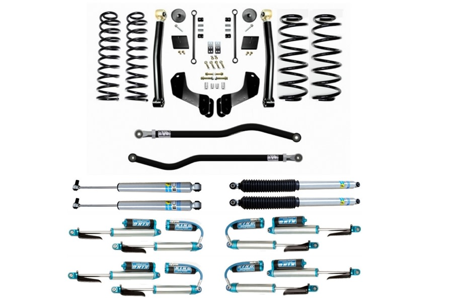 Evo Manufacturing HD 2.5in Enforcer Overland Stage 2 PLUS Lift Kit w/ Shock Options - JL
