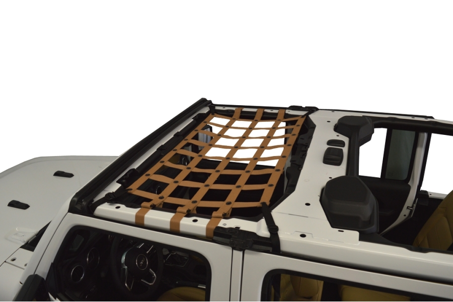 Dirty Dog 4x4 Front Seat Netting, Sand - JL 4Dr