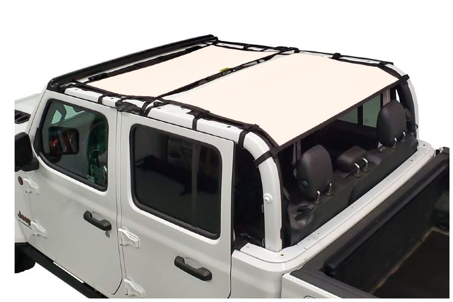 Dirty Dog 4x4 Sun Screen Front and Rear-Sand - JT
