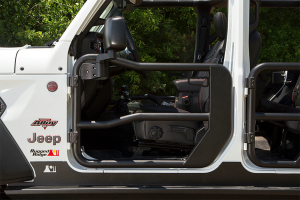 Rugged Ridge Front Tube Doors with Mirrors  (Part Number: )