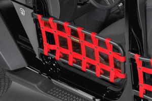 Dirty Dog 4X4 Olympic Front Tube Door Netting, Red - JK
