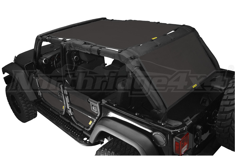 Dirty Dog 4x4 Sun Screen 1 Piece Front and Back Black (Part Number:J4SS07S1BK)