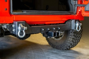 DV8 Offroad Rear Bumper Crossmember w/Recovery Shackles - JL