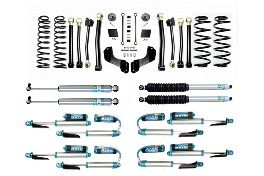 Evo Manufacturing HD 2.5in Enforcer Overland Stage 4 Lift Kit w/ Shock Options - JL