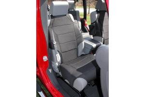 Rugged Ridge Front Seat Vests Black (Part Number: )