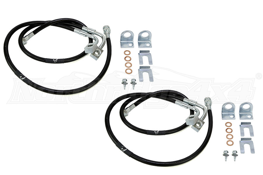 Crown Performance Extended Front and Rear Brake Lines 3-6 (Part Number:JKFRONTLINES-REARLINES)