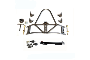 EVO Manufacturing Rear Tire Carrier w/D-Ring Mounts and Bumper Fascia Package ( Part Number: PKG4)