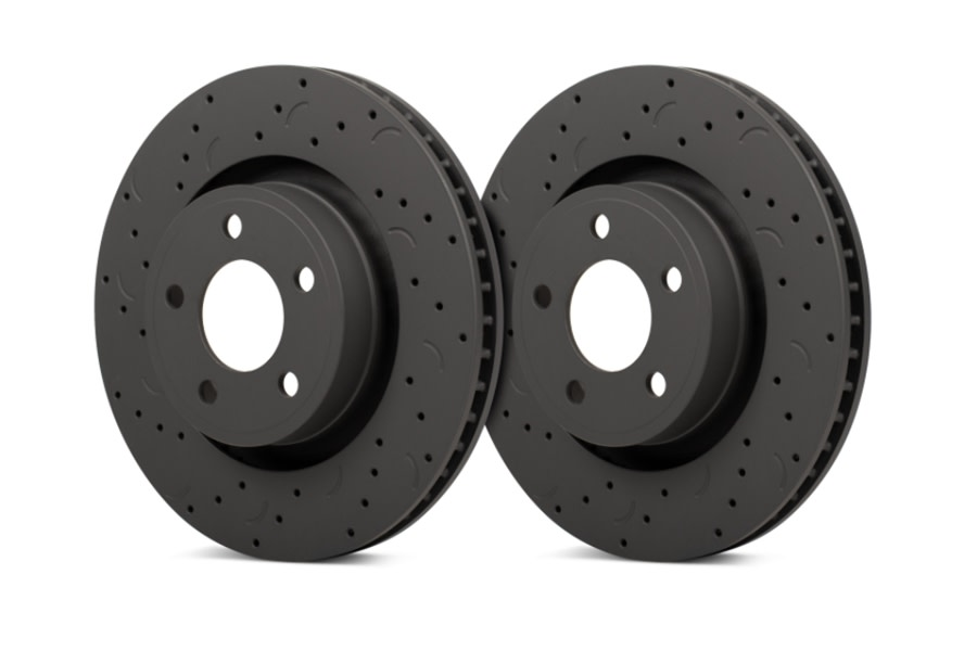 Hawk Performance Talon Street Front Rotors - Cross-Drilled and Slotted - JT/JL