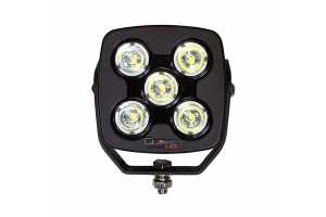 Quake LED 4.5in RGB Accent Megaton Series Work Spot Light, 50watt - Quad Lock/Interlock Compatible
