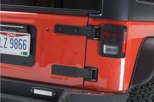 Kentrol Tailgate Hinge Set - Textured Black  - JK
