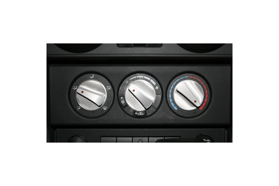 Rugged Ridge Climate Control Knob Set Red  - JK 2007-10