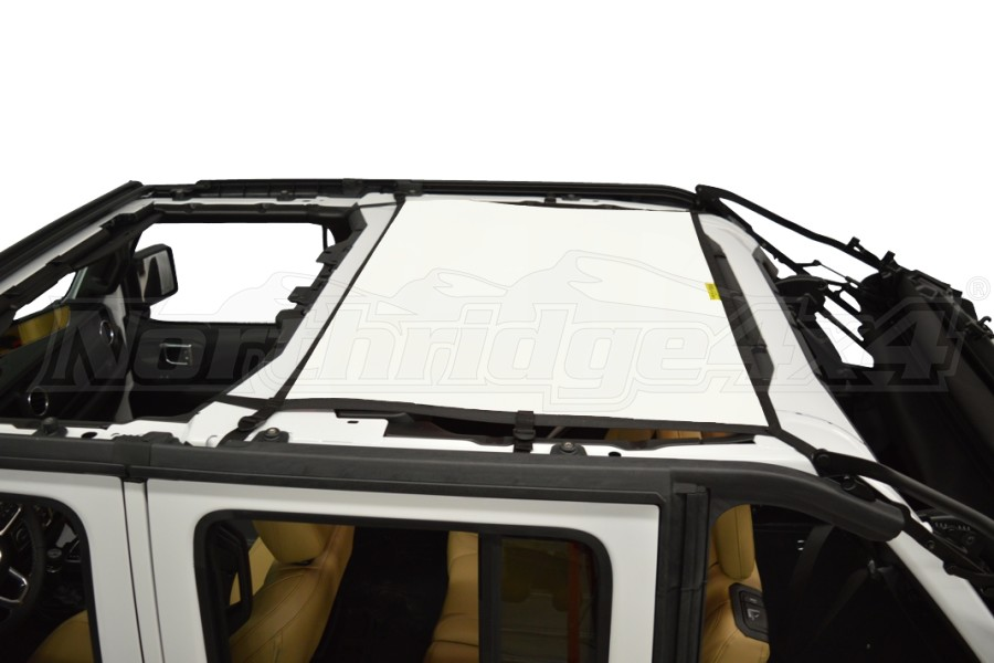 Dirty Dog 4x4 Sun Screen Rear - White (Part Number:JL4S18R1WH)