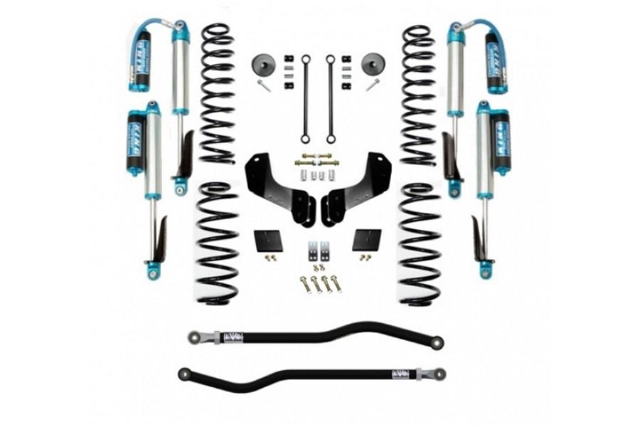 Evo Manufacturing 2.5in Enforcer Overland Stage 1 PLUS Lift Kit w/ Comp Adjuster Shocks - JL