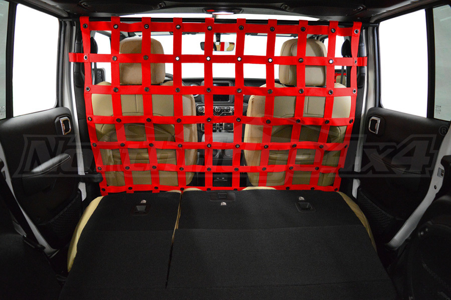 Dirty Dog 4X4 Cargo/Pet Divider Red - JL 4dr