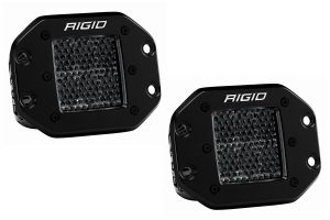 Rigid Industries D-Series Midnight Pro Spot Diffused LED Lights, Flush Mount - Pair